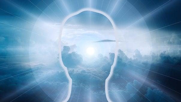 Clouds, Sky, Light, Head, Silhouette, Spirit, Soul
