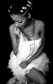 Woman, Portrait, Cloaking, Crown