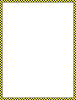 Checker, Border, Abstract, Art, Black, Yellow, Box