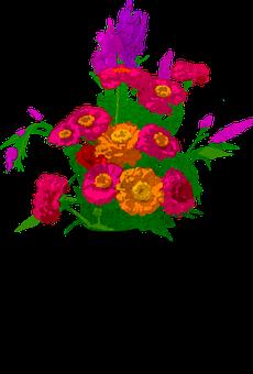 Bouquet, Flowers, Funeral, Decoration, Vase