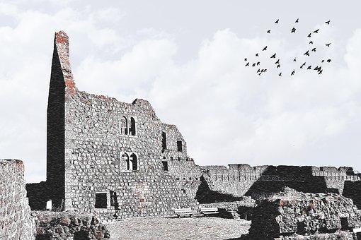 Münzenberg, Münzenbung, Burgruine, Castle, Ruin