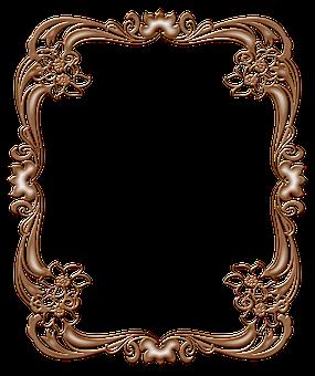 Art Nouveau Frame, Copper Frame, Floral, Lace, Diamond