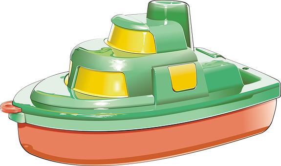 Boat, Yacht, Sea, Ocean, Ship, Toy, Red, Drawing