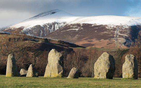 Castlerigg, Stone Circle, Keswick, England, Landscapes