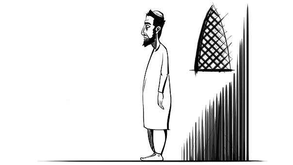 Muslim, Prayer, Standing, Man, Praying