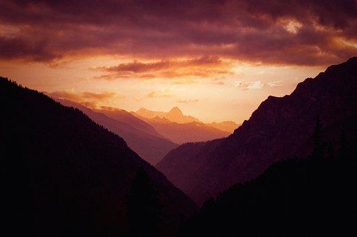Sky, Open, Mountain, Landscape, Scenery, Universe