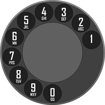 Rotary, Dial, Dialer, Telephone, Old