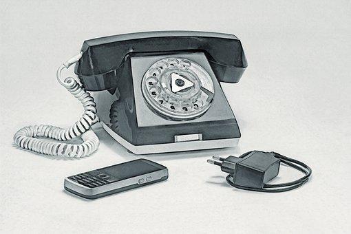 Landline Phone, Link, Vintage, Tube, Phone