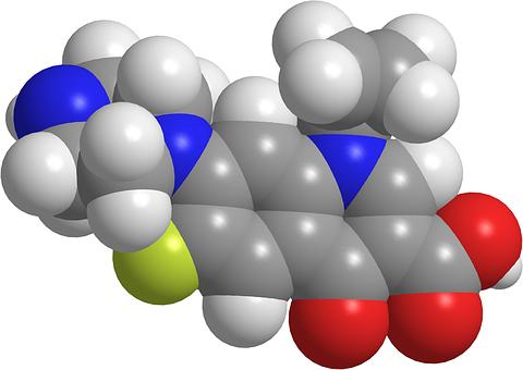 Medicine, Molecula, Ciprofloxacin, Antibiotic