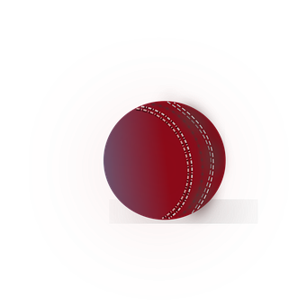 Ball, Cricket, Leather, Red, White Seams