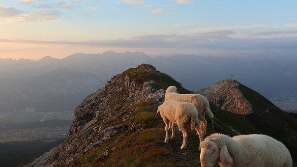 Berge, Bergfoto, Sonnenuntergang, Tirol