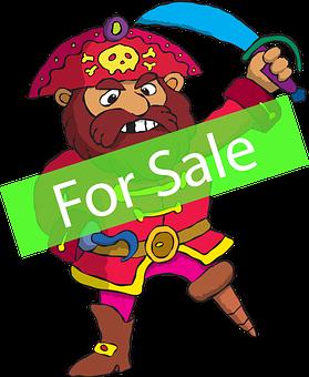 Pirate, Sea Food, Mascot, Character