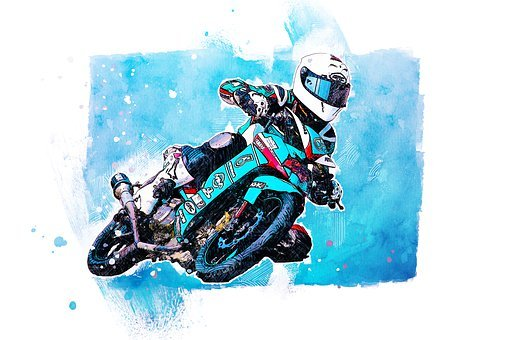 Action, Bike, Biker, Circuit, Colorful