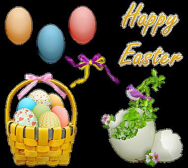Easter Clip Art, Easter, Easter Eggs, Basket