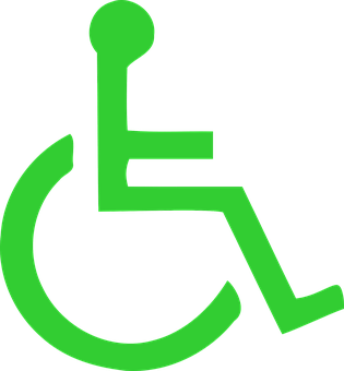 Wheelchair, Green, Symbols, Disabled, Handicap