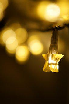 Star, Light, Lichterkette, Night, Deco, Romantic