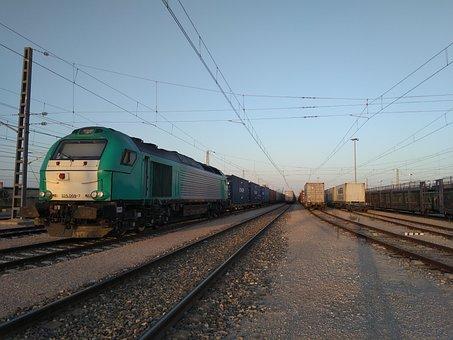 Pathways, Wagons, Railway, Transport, Rails, Locomotive
