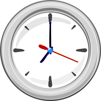Clock, Time, Hands, Three, Hour, Minute, Second