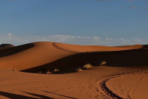 Desert, Sun, Orange, Romantic, Nature, Travel, Mood