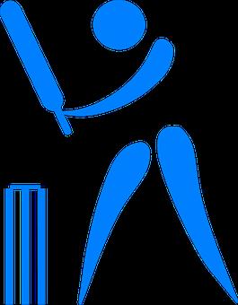 Cricket, Bat, Ball, Player, Stickman, Stick Figure