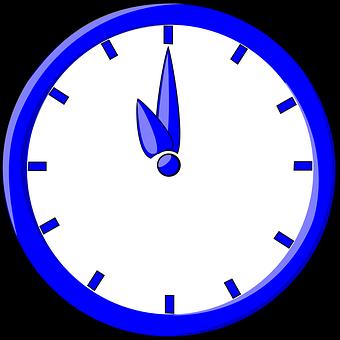Clock, Time, Blue, Face, Eleven, Hours, Eleven O' Clock