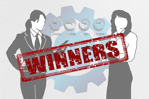 Executive, Businesswoman, Winner, Win