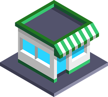 Shop, 3d, Isometric, Mock Up, Sale, Shopping, Market