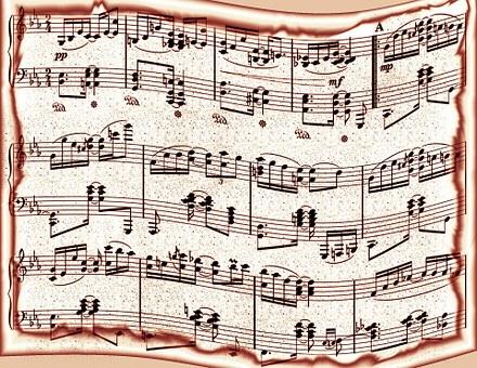 Music, Paper, Background, Design, Retro