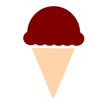 Ice Cream, Cone, Waffle, Brown, Chocolate, Food