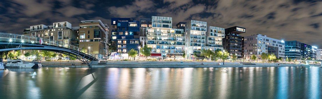 Confluence, Lyon, Bridge, Architecture, Facade, Mall