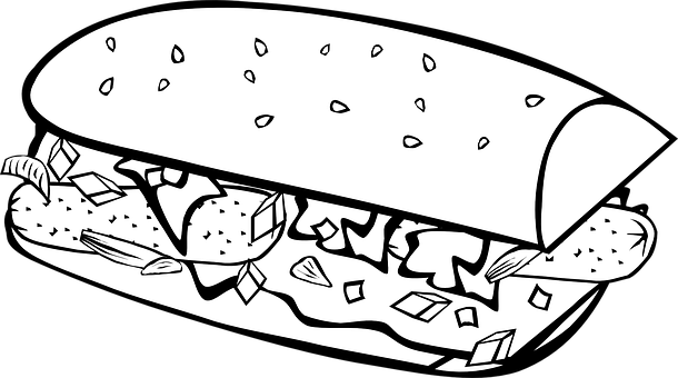 Sub, Hoagie, Grinder, Sandwich, Meal, Lunch, Food, Big