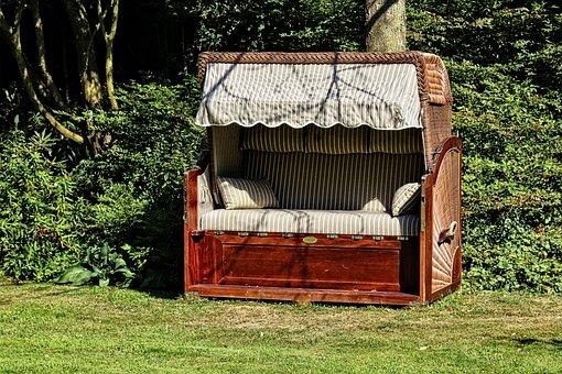 Bench, Garden, Green, Park, Wood, Nature
