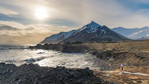 Mountains, Iceland, Fjord, Landscape