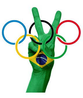 Olympic Rings, Olympiad, Rio De Janeiro, 2016, Brazil