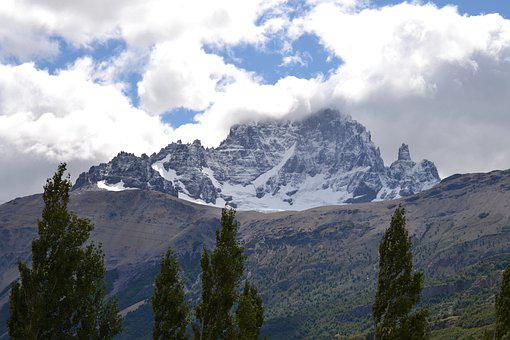 Mountain, Clouds, Sky, Patagonia