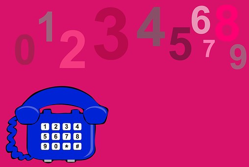 Telephone, Phone, Pink, Numbers, Communicate