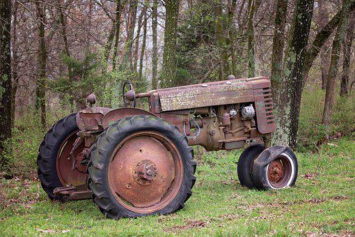 Rustic, Tractor, Farm, Rural, Old, Antique, Rusted