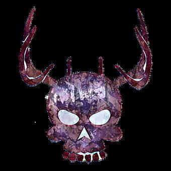 Skull, Tattoo, Gothic, Symbol, Halloween, Design
