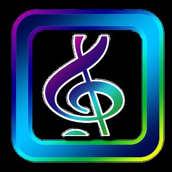 Icon, Music, Clef, Treble Clef, Symbols, Online