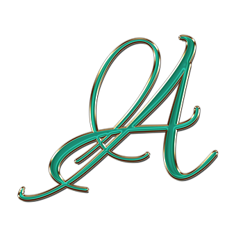 Letter, A, Font, The Text Of The, Monogram, Glitter