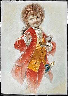 Vintage, Little, Boy, Edwardian, Art