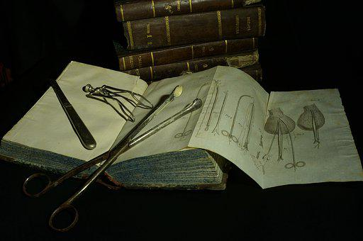 Surgery, Books, Book, Vintage, Tool