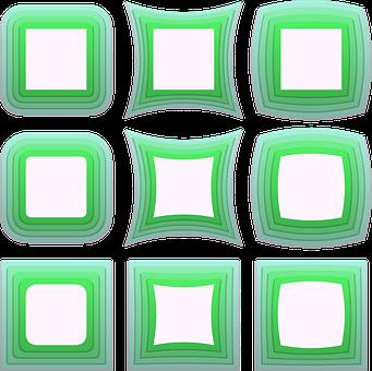 Frame, Green, Border, Decoration, Isolated, Design