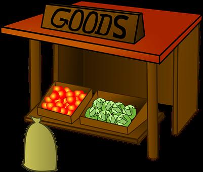 Market, Goods, Stall, Fruit, Veg, Wood, Vegetable