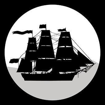 Ship, Sail, Icon, Symbol, Sailboat, Nautical, Sailing