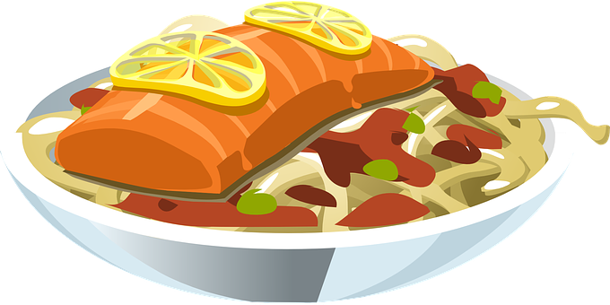 Food, Salmon, Lemon, Fish, Seafood, Meal
