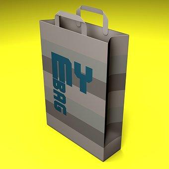 Bag, Shop, Store, Shopping, Render, Graphics