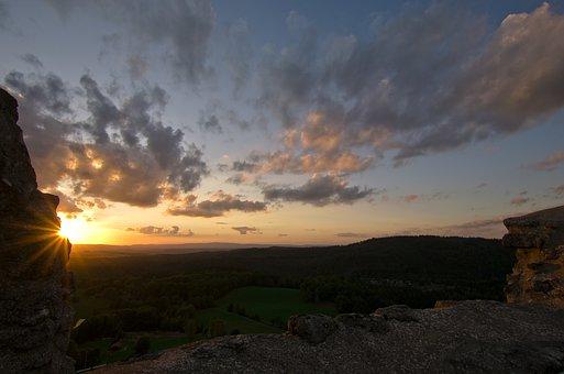 Sunset, Bavaria, Summer, Light, Sunlight