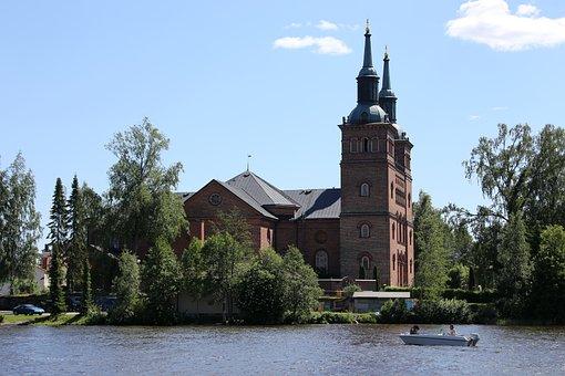 Church, River, Kokemäki, Boat, Tourism, Vammalan
