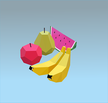 Fruit, Watermelon, Bananas, Pear, Food, Delicious